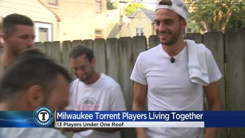 13 Milwaukee Torrent soccer players living under one roof